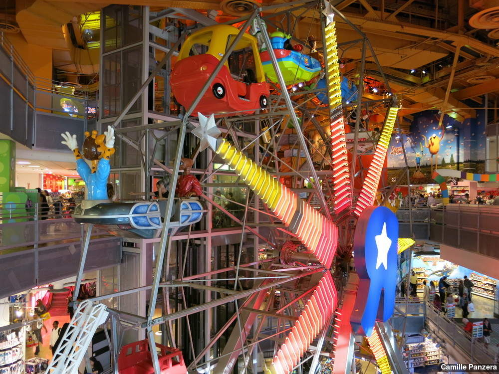 It was clear this was an in-and-out type of store, without show-stopping experiences like the Ferris wheel inside the former Times Square Toys R Us, which closed in early